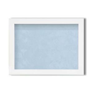 【ピンバッチ・缶バッチを飾れる額】壁掛け・スタンド付 紫外線やほこりや劣化から防ぐ B5(284×209mm) ブルー - 拡大画像