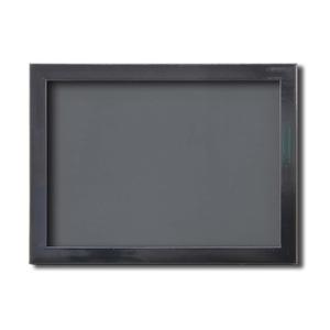 【ピンバッチ・缶バッチを飾れる額】壁掛け・スタンド付 紫外線やほこりや劣化から防ぐ B5(284×209mm) ブラック - 拡大画像