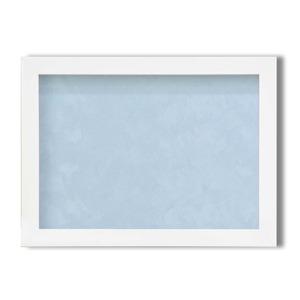 【ピンバッチ・缶バッチを飾れる額】壁掛け・スタンド付 紫外線やほこりや劣化から防ぐ A4(297×210mm) ブルー - 拡大画像