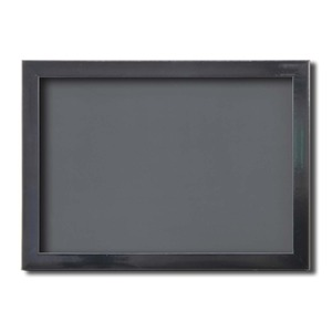 【ピンバッチ・缶バッチを飾れる額】壁掛け・スタンド付 紫外線やほこりや劣化から防ぐ A4(297×210mm) ブラック - 拡大画像