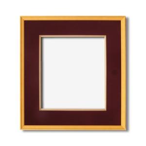 【日本画額】木製フレーム 和額 色紙額 色紙Fサイズ 木製日本画額色紙サイズ(273×242mm)エンジ - 拡大画像