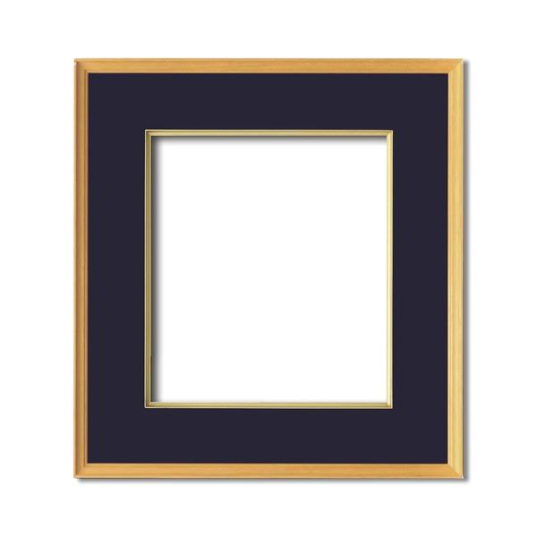 【日本画額】木製フレーム 和額 色紙額 色紙Fサイズ 木製日本画額色紙サイズ(273×242mm)紺