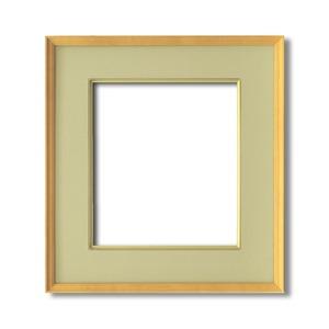【日本画額】木製フレーム 和額 色紙額 色紙Fサイズ 木製日本画額色紙サイズ(273×242mm)ウグイス - 拡大画像