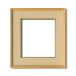 【日本画額】木製フレーム 和額 色紙額 色紙Fサイズ 木製日本画額色紙サイズ(273×242mm)ベージュ - 拡大画像