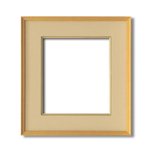 【日本画額】木製フレーム 和額 色紙額 色紙Fサイズ 木製日本画額色紙サイズ(273×242mm)ベージュ