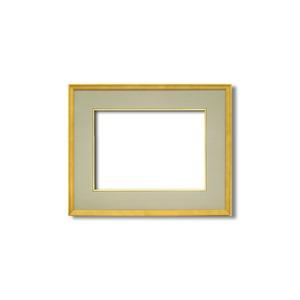【日本画額】木製フレーム 和額 色紙額 色紙Fサイズ 木製日本画額F6サイズ(410×318mm) ウグイス - 拡大画像