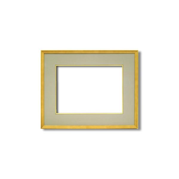 【日本画額】木製フレーム 和額 色紙額 色紙Fサイズ 木製日本画額F6サイズ(410×318mm) ウグイス