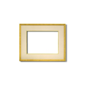 【日本画額】木製フレーム 和額 色紙額 色紙Fサイズ 木製日本画額F6サイズ(410×318mm) ベージュ - 拡大画像