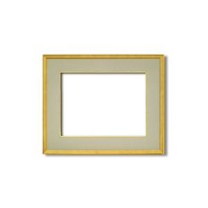 【日本画額】木製フレーム 和額 色紙額 色紙Fサイズ 木製日本画額F8サイズ(455×380mm)ウグイス - 拡大画像