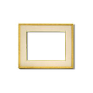 【日本画額】木製フレーム 和額 色紙額 色紙Fサイズ 木製日本画額F8サイズ(455×380mm)ベージュ - 拡大画像