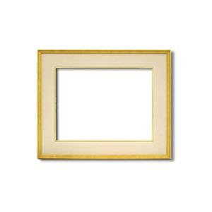【日本画額】木製フレーム 和額 色紙額 色紙Fサイズ 木製日本画額F10サイズ(530×455mm) ベージュ - 拡大画像