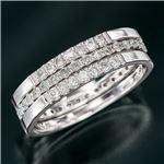 ダイヤリング 指輪 エタニティ3本セット シルバーリング 23号
