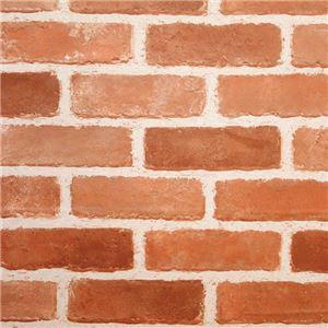 貼ってはがせる壁デコウォールペーパー 【ブラウンレンガ 2: 46.5×250cm】 - 拡大画像