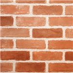 貼ってはがせる壁デコウォールペーパー 【ブラウンレンガ 2: 46.5×250cm】