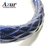 Azur ハンドルカバー セレナ ステアリングカバー エナメルネイビー M(外径約38-39cm) XS54D24A-M
