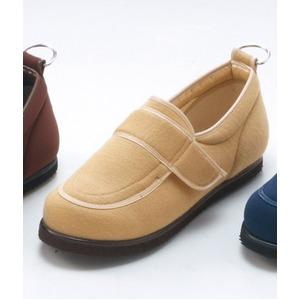 介護靴/リハビリシューズ ベージュ LK-1(外履き) 【片足25cm】 3E 左右同形状 手洗い可 (歩行補助用品) 日本製 - 拡大画像