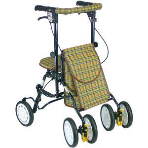 シルバーカー/歩行車/アクティブピッチ 杖立て/反射機能付き 高さ5段階調整可 (歩行補助用品/介護用品) ブラウン