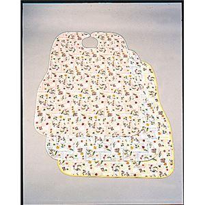 (まとめ)斉藤工業 食事用エプロン ノン・スリップエプロン Pなし ブルー柄【×3セット】 - 拡大画像