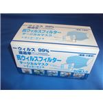 (まとめ)グリーンテック マスク 抗ウイルスフィルター サージカルマスク 50枚入 GTI【×10セット】
