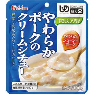 (まとめ)ハウス食品 介護食 やさしくラクケア(3)ヤワラカポークのクリームシチュー 1個 84562【×80セット】 - 拡大画像