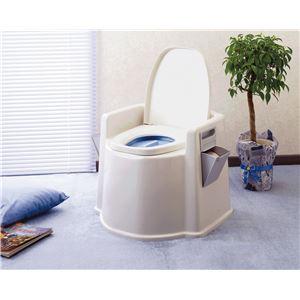 幸和製作所 樹脂製ポータブルトイレ テイコブポータブルトイレ DX PT02 - 拡大画像