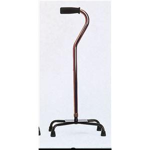 ミキ 4点杖 四点杖(アルミ製) ブラウン MRA-01621【非課税】