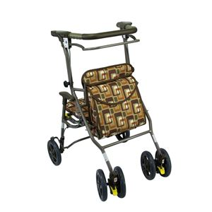 島製作所 歩行車 シンフォニーワイドSP(4)小タイプGAブラウン【非課税】 - 拡大画像
