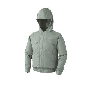 空調服 フード付き ポリエステル製長袖ワークブルゾン リチウムバッテリーセット BP-500FC07S7 モスグリーン 5L - 拡大画像