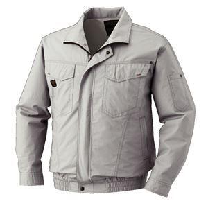 空調服 綿薄手長袖タチエリブルゾン リチウムバッテリーセット BM-500TBC06S2 シルバー M - 拡大画像