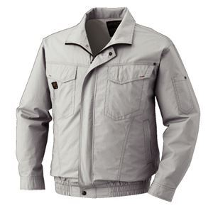空調服 綿薄手長袖タチエリブルゾン リチウムバッテリーセット BM-500TBC06S3 シルバー L - 拡大画像