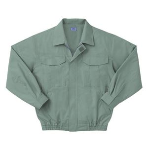 空調服 綿薄手長袖作業着 KU90550 【カラーモスグリーン: サイズLL】 服地のみ - 拡大画像