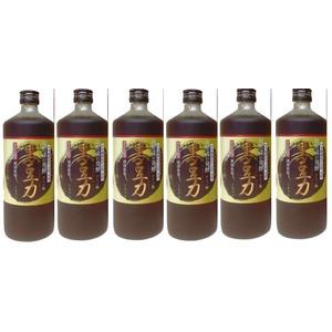 堤酒造 焼酎蔵の発酵 黒豆力 プレミアム発酵 黒大豆搾り 720ml   6 本 - 拡大画像