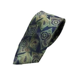 希少生地使用 グランネクタイ Clarkプレミアム 手縫い仕立て 西陣ネクタイ ほぐし染めブルー - 拡大画像