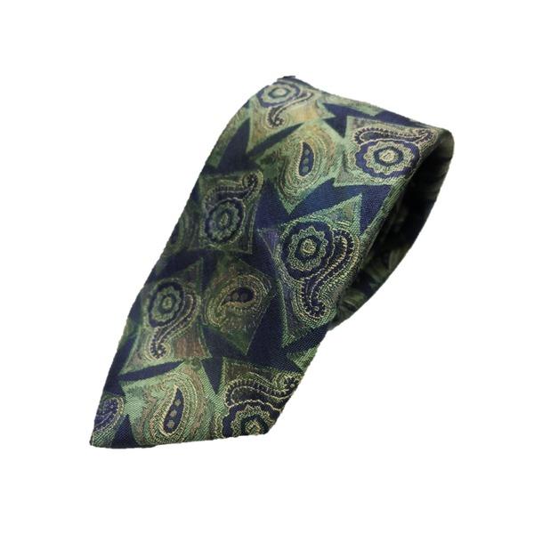 希少生地使用 グランネクタイ Clarkプレミアム 手縫い仕立て 西陣ネクタイ ほぐし染めブルー