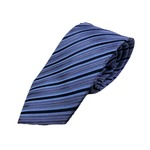 Gian Bellini milano イタリアファクトリーネクタイ ブルー×ストライプ