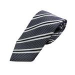 日本製シルク100%ネクタイ ストライプ