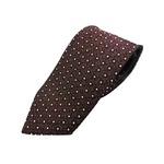 新春 希少フジヤマ織小柄 ブラウン  日本製シルク100%  ネクタイ