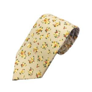 新作季節素材ネクタイ  日本製シルク100% 希少生地 花柄 - 拡大画像