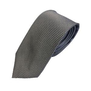 イタリア製 Gian Bellini ファクトリーシルクネクタイ シルバー柄 - 拡大画像