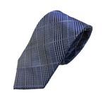 ネクタイ 人気チェックシリーズ 日本製シルク100% ネイビー チェック