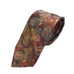 グランネクタイ 西陣手縫いネクタイ 希少生地シリーズ ペイズリー ボルドー