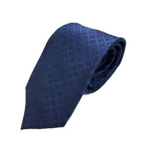 ネクタイ 小柄シリーズ 日本製シルク100% ネイビー - 拡大画像