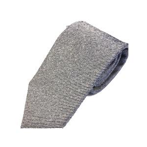 ネクタイ 無地シリーズ 日本製シルク100% ゼブラ - 拡大画像