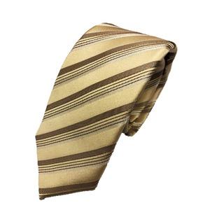 スマートタイコレクション日本製シルク100%ネクタイ ゴールドストライプ - 拡大画像