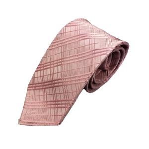 秋冬チェックコレクション 立体感のある凹凸ピンク