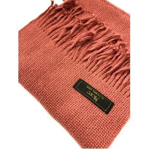 おすすめ 機屋直仕入れ 日本製カシミヤ100% 織マフラー ローズピンク 無地