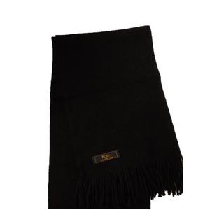 おすすめ 機屋直仕入れ 日本製カシミヤ100% 織マフラー ブラック 無地
