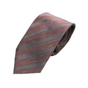 リネン混グランネクタイ 西陣手縫いネクタイ ダークピンク - 拡大画像