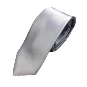 スマートタイ 無地・サテンシリーズ シルク100% クリアブルー 大剣幅約6.5cm