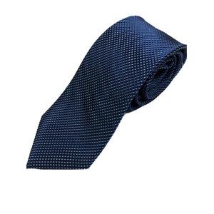 イタリアファクトリーネクタイ シルク100% 小柄 ブルー&ロイヤルブルー